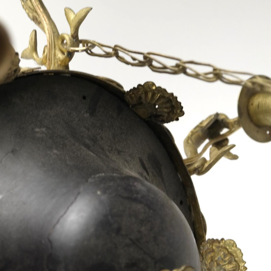 Empire Style Tole & Brass Chandelier - 5