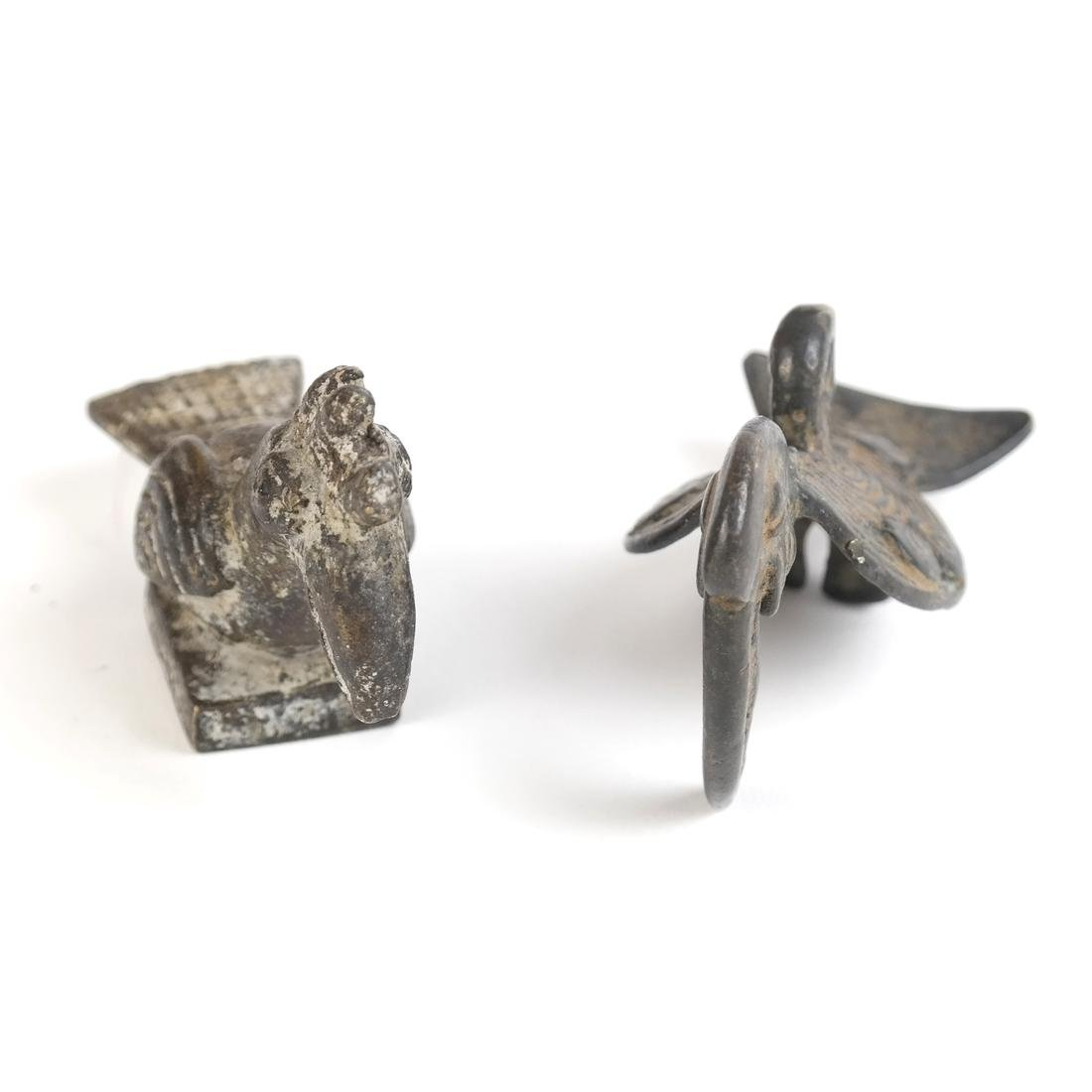 Two Bronze Miniature Birds - 2