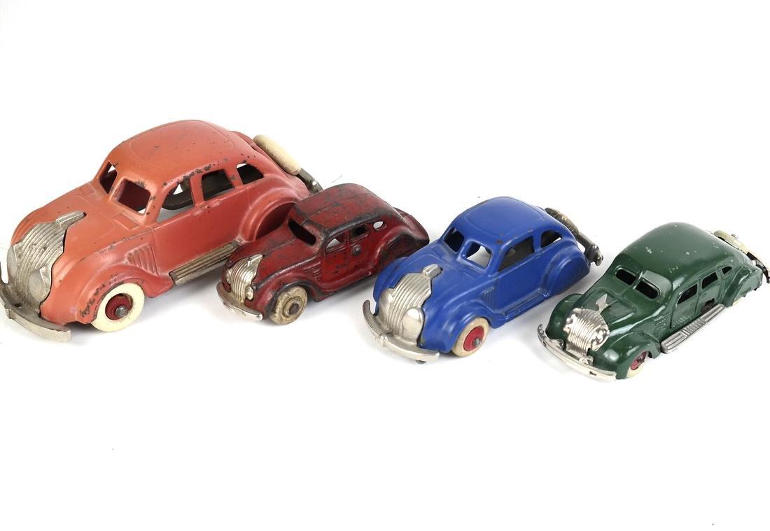 Hubley Model Car, 3 others - 2