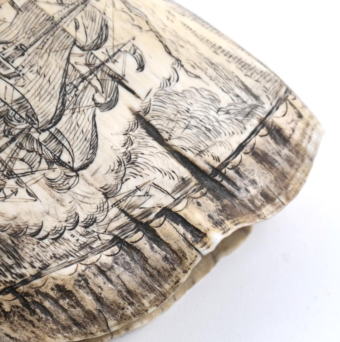 Scrimshaw with Battle Scene - 4