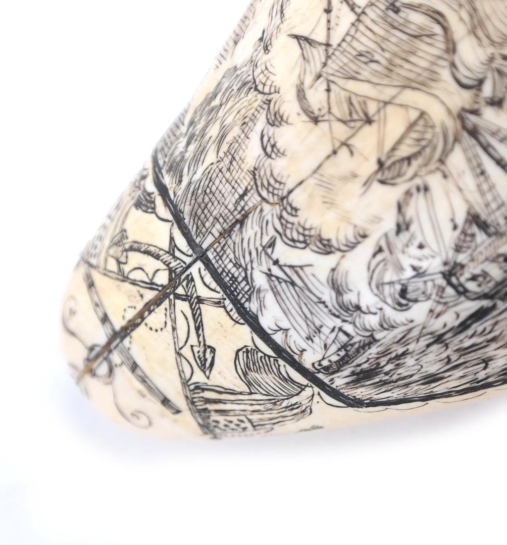 Scrimshaw with Battle Scene - 5