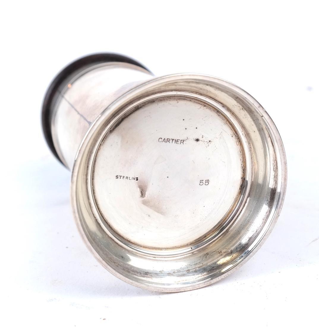 Cartier Silver Tankard Pen Holder - 6