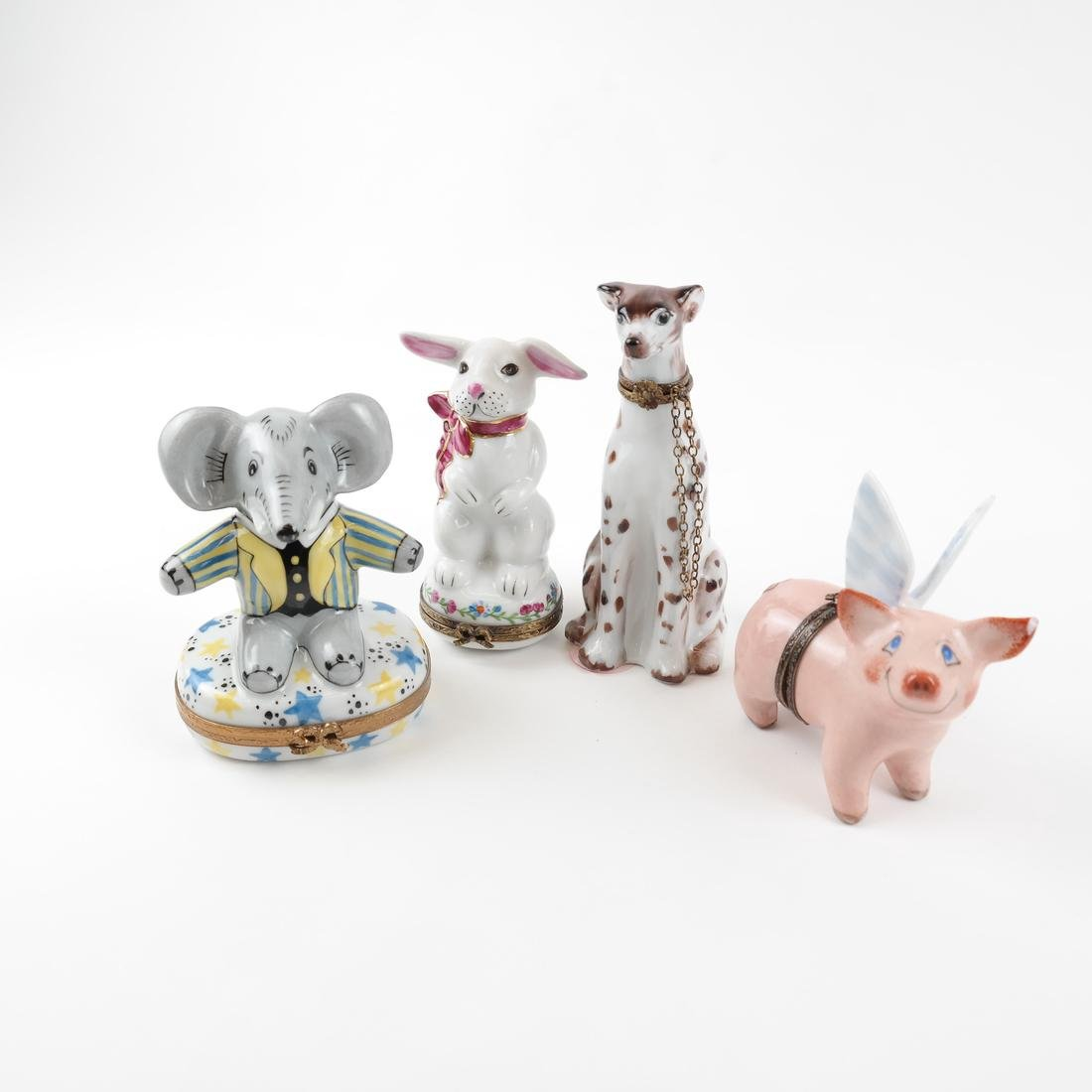Four Animal Limoges Boxes