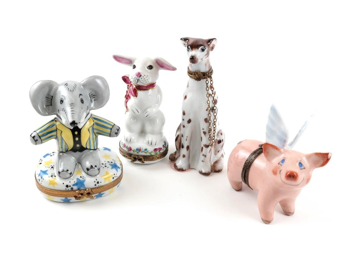 Four Animal Limoges Boxes - 2