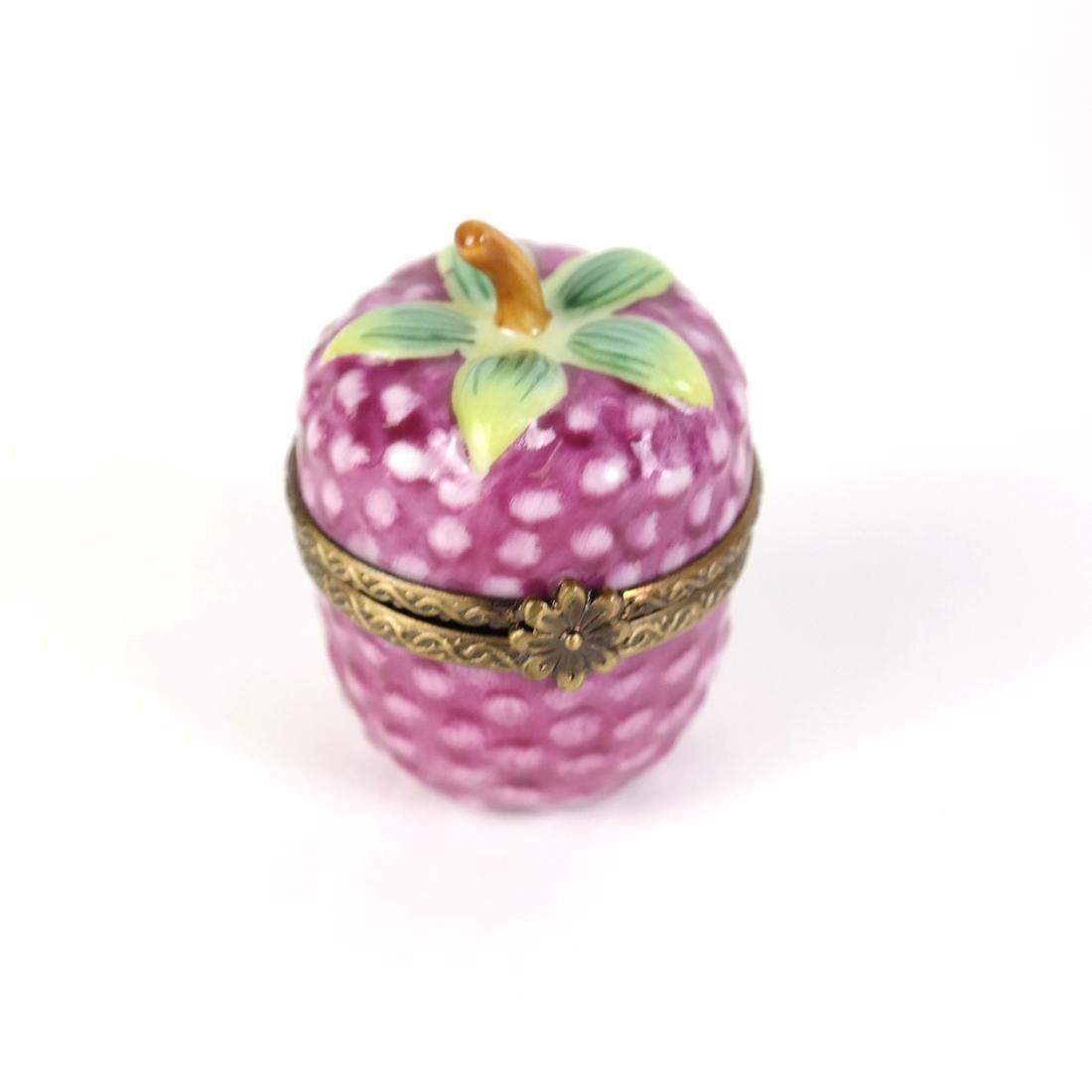 Four Fruit & Floral Limoges Boxes - 3