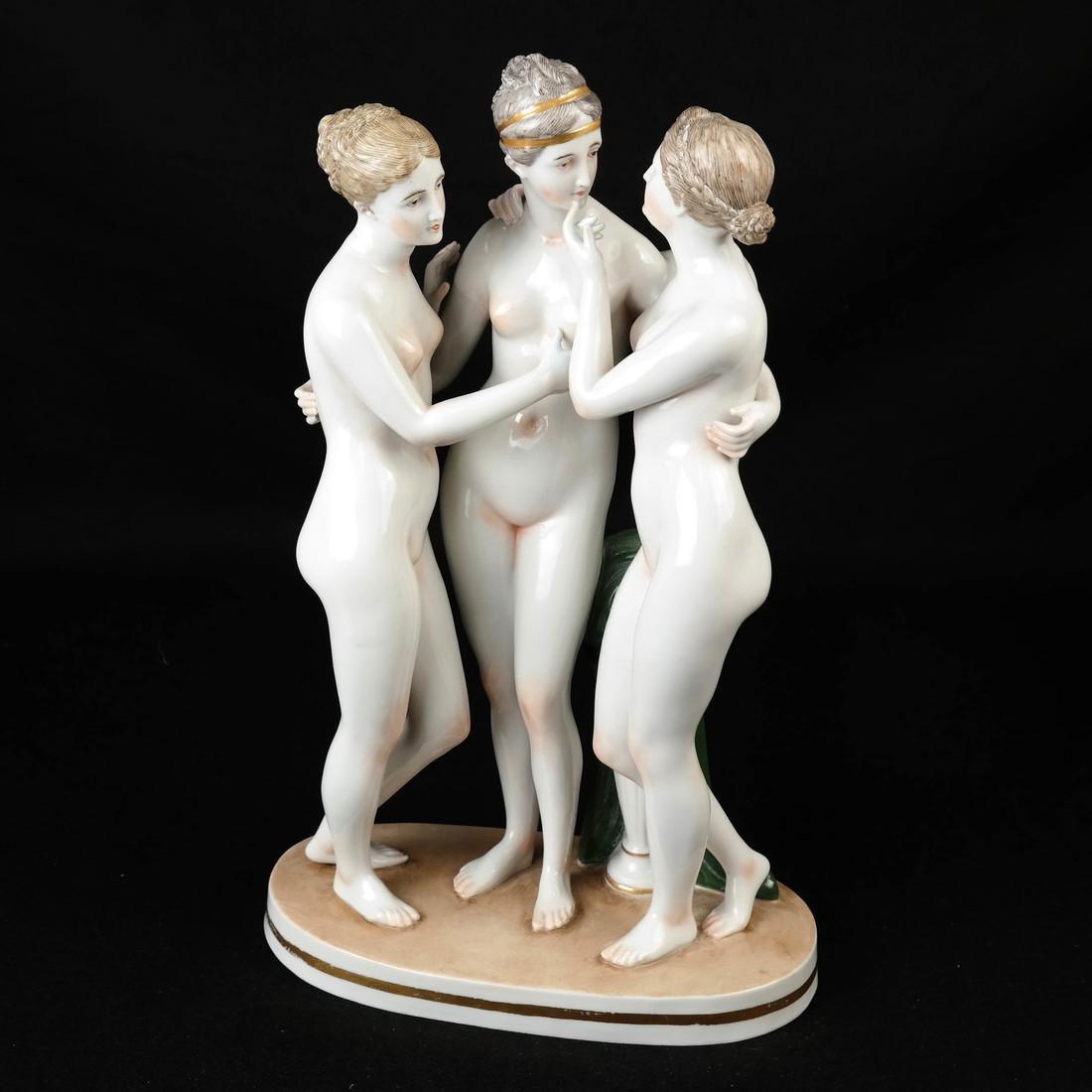 "Royal Vienna Plate, ""3 Graces"""
