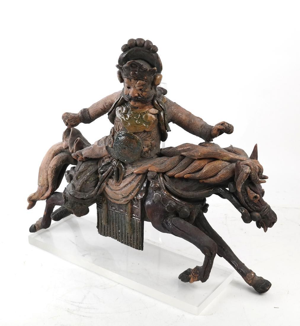 Polychrome Horse & Rider