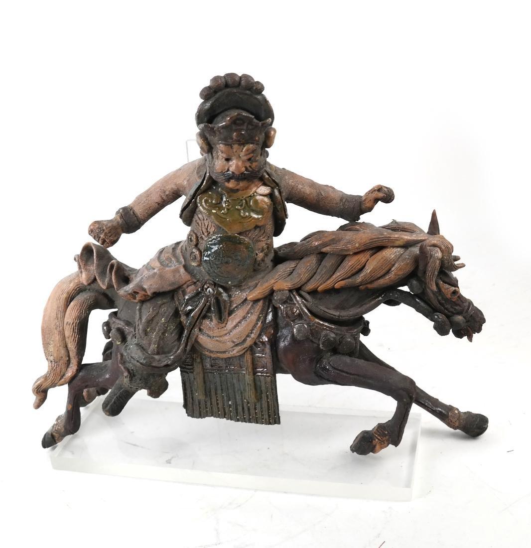 Polychrome Horse & Rider - 2