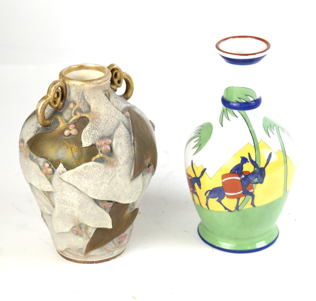 Two Decorated Vases