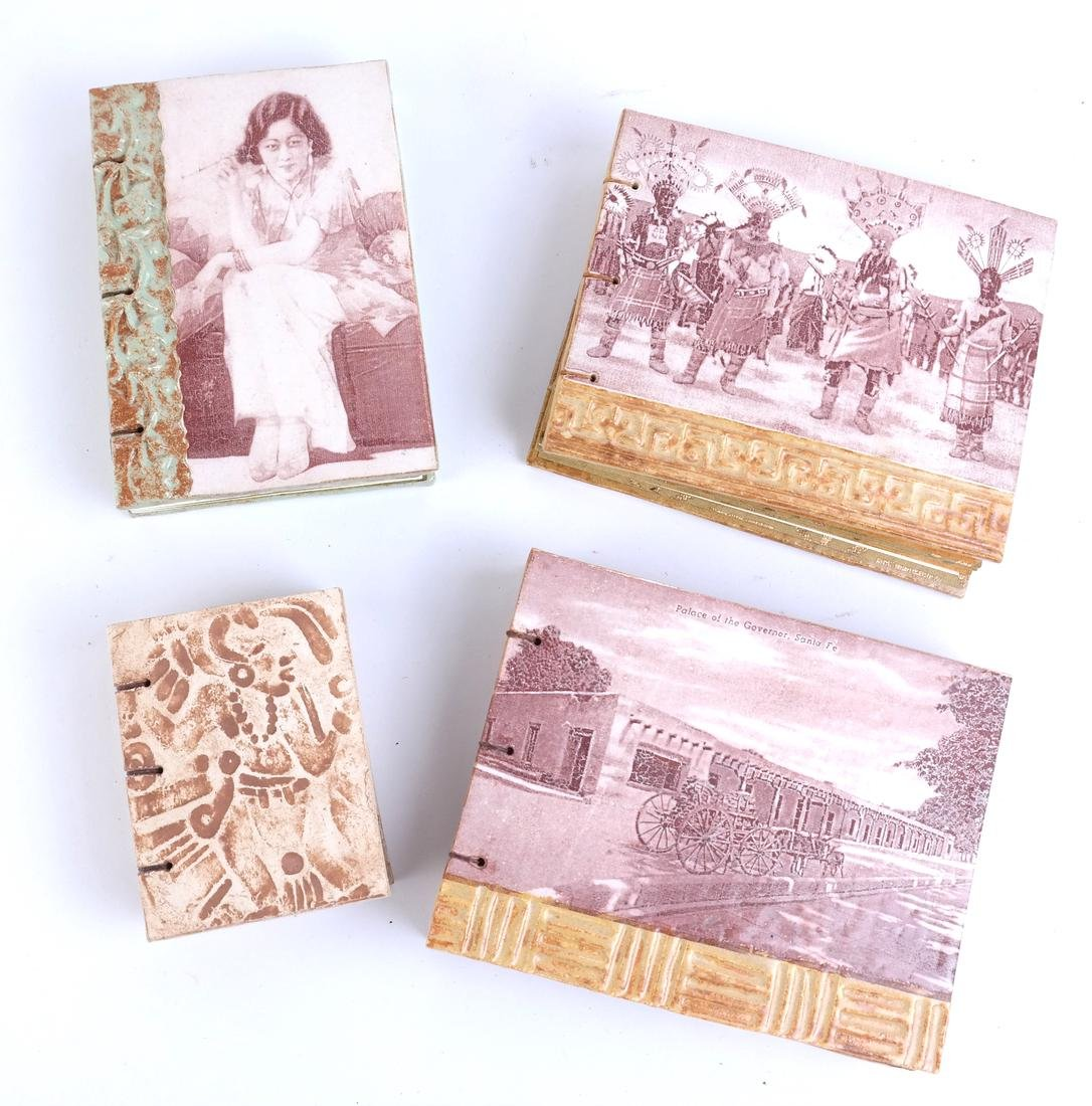 Four Decorated Tile Albums