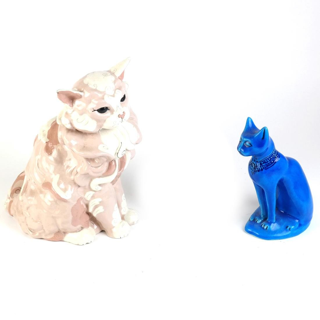 Two Ceramic Cats