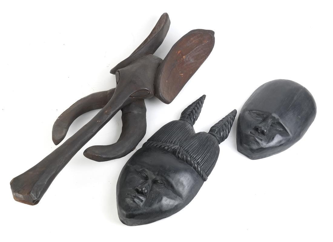Three Tribal Masks