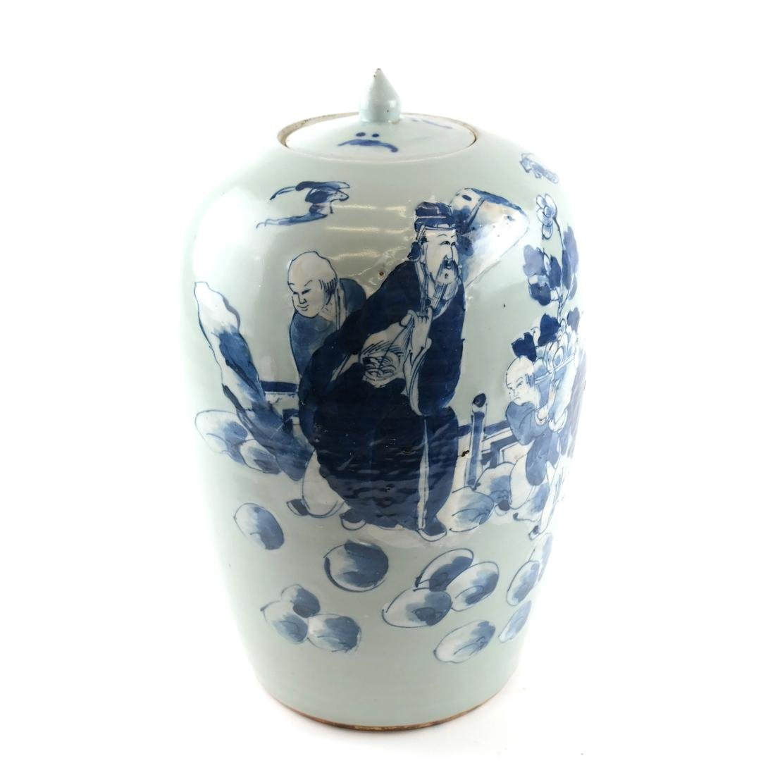 Chinese-Style Ceramic Ginger Jar