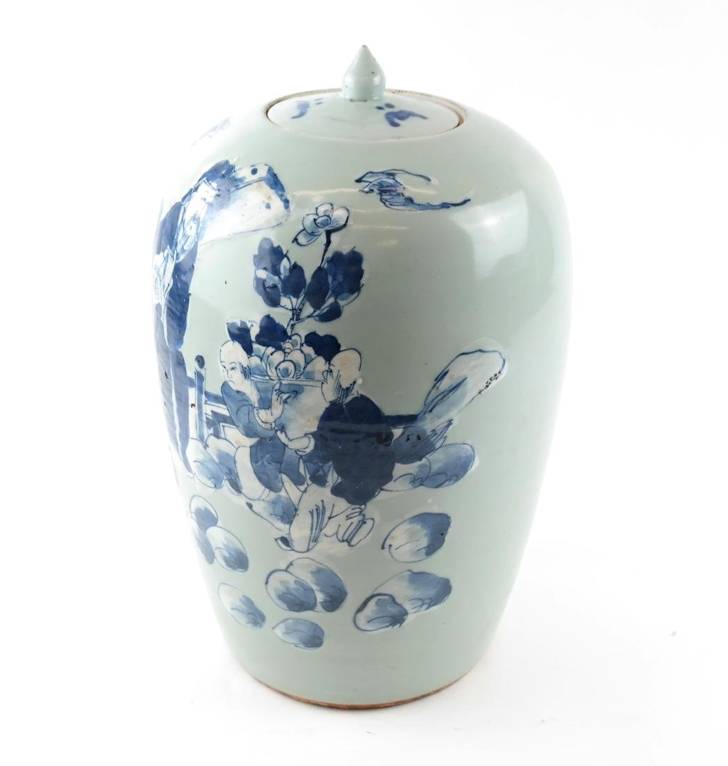 Chinese-Style Ceramic Ginger Jar - 5