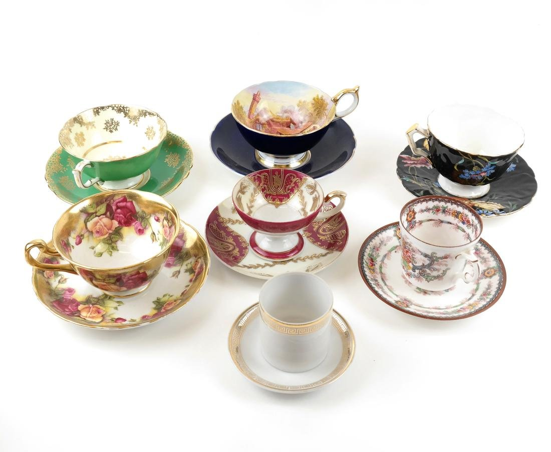14 Assorted Cups and Saucers