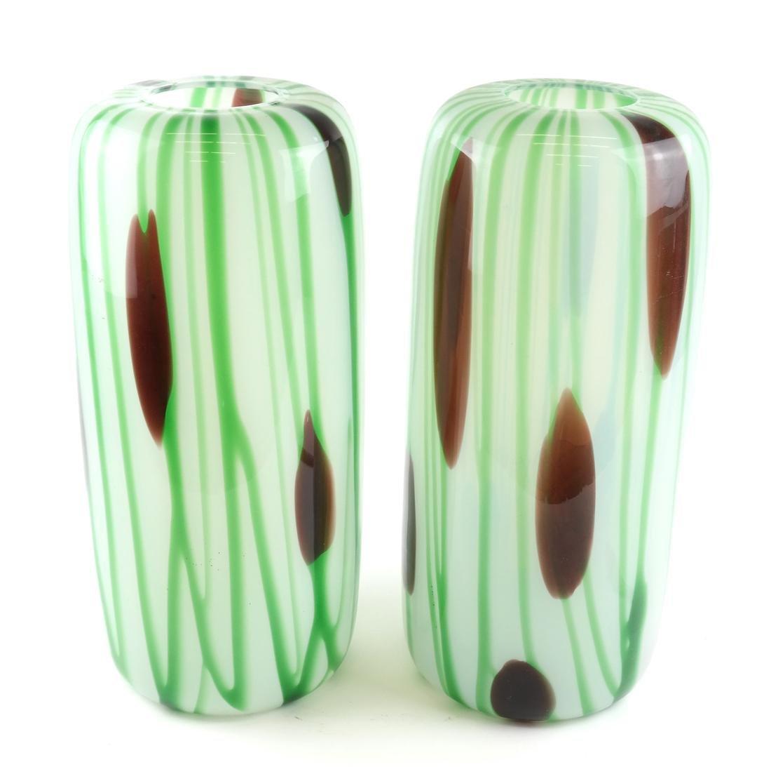 Pair of Art Glass Vases