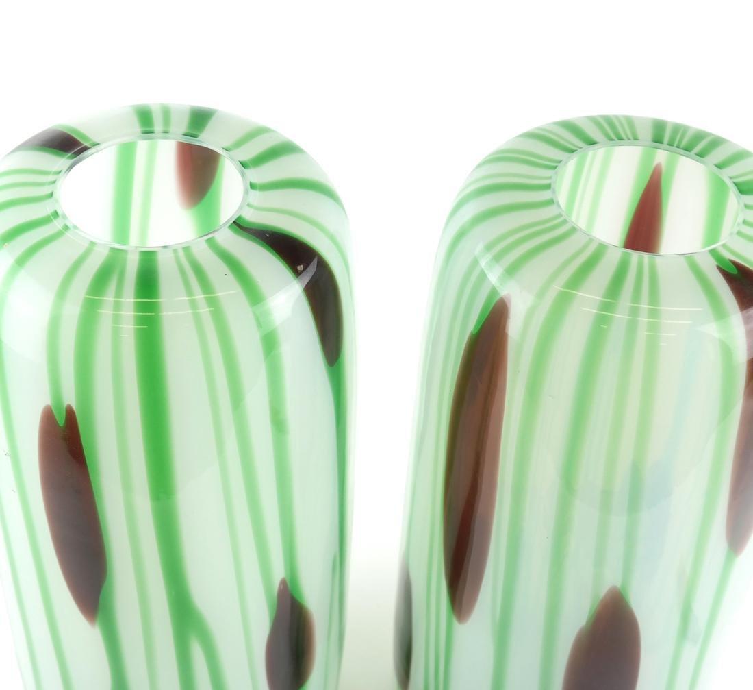 Pair of Art Glass Vases - 2