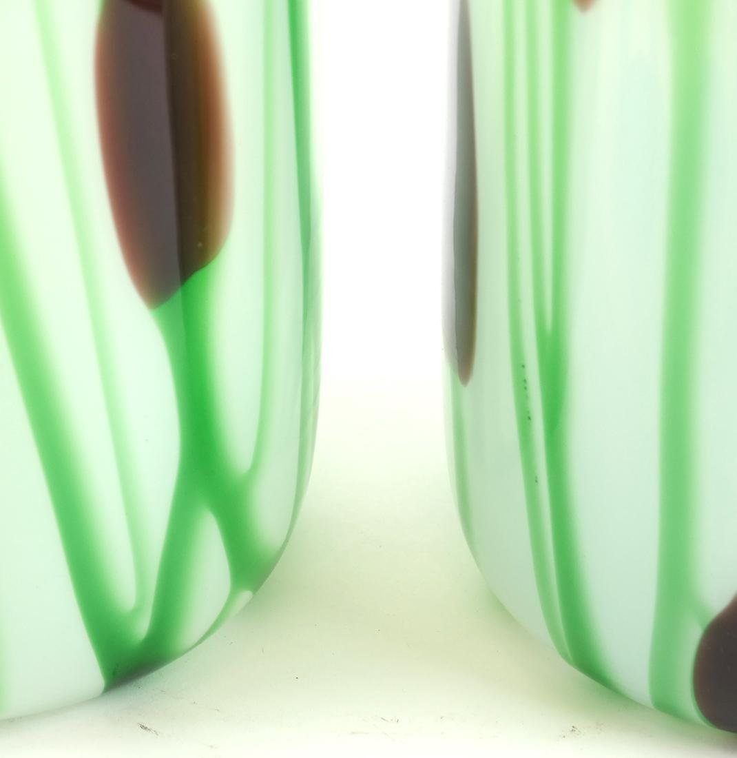 Pair of Art Glass Vases - 4