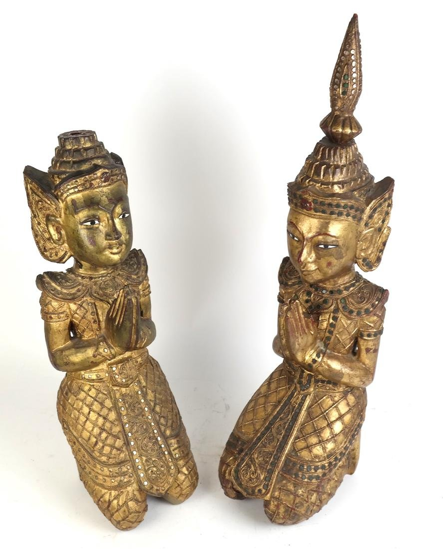 Pair of Southeast Asian Carved Deities