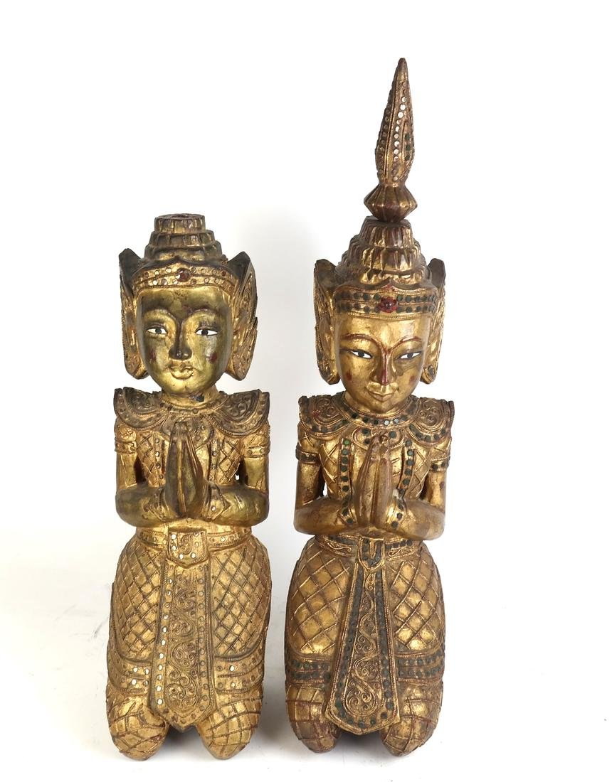 Pair of Southeast Asian Carved Deities - 2