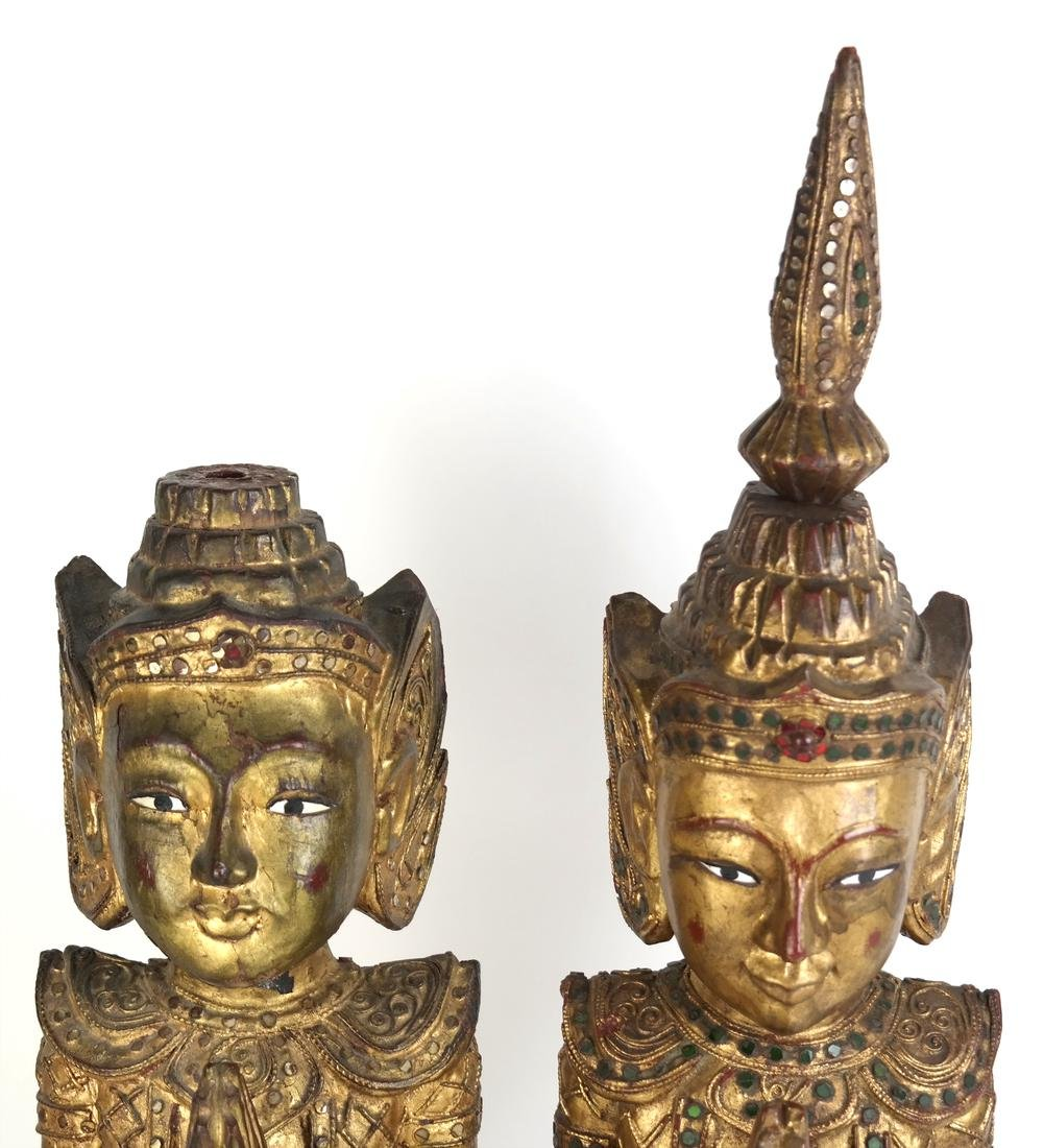 Pair of Southeast Asian Carved Deities - 3