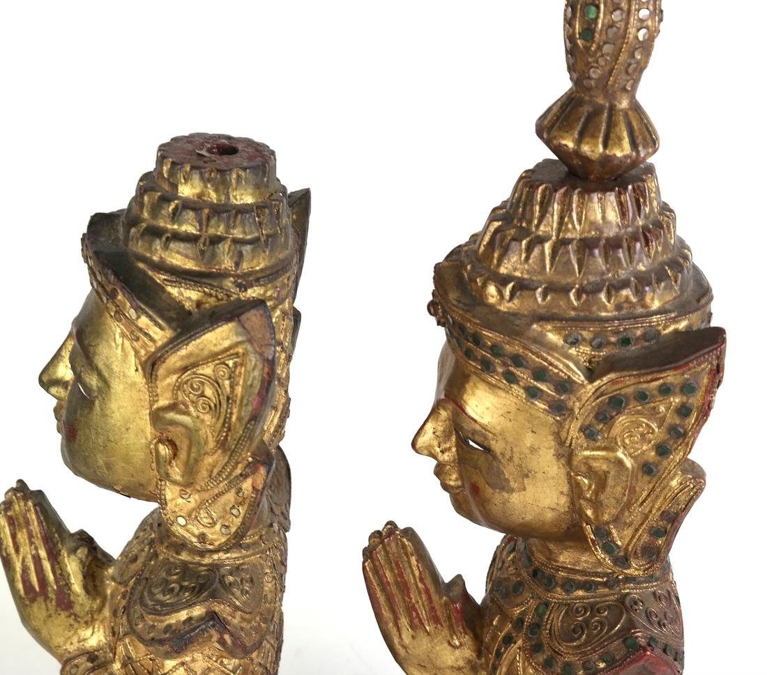 Pair of Southeast Asian Carved Deities - 6