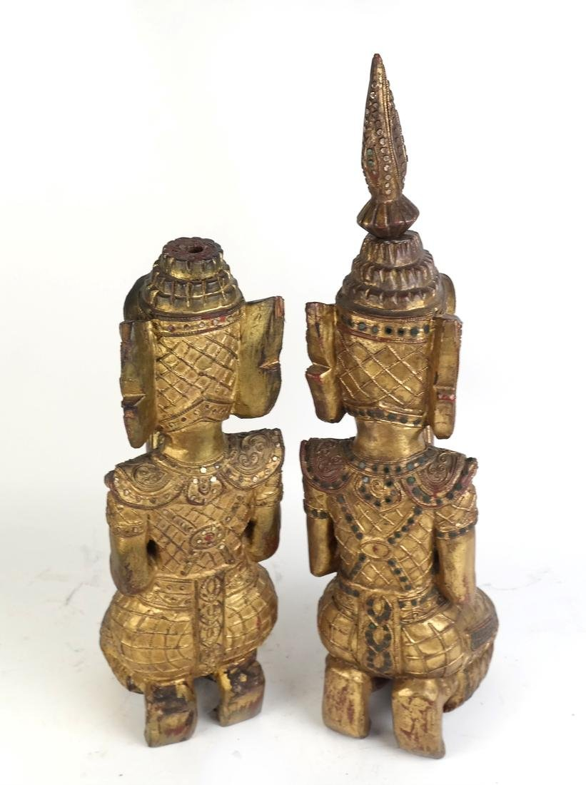 Pair of Southeast Asian Carved Deities - 7
