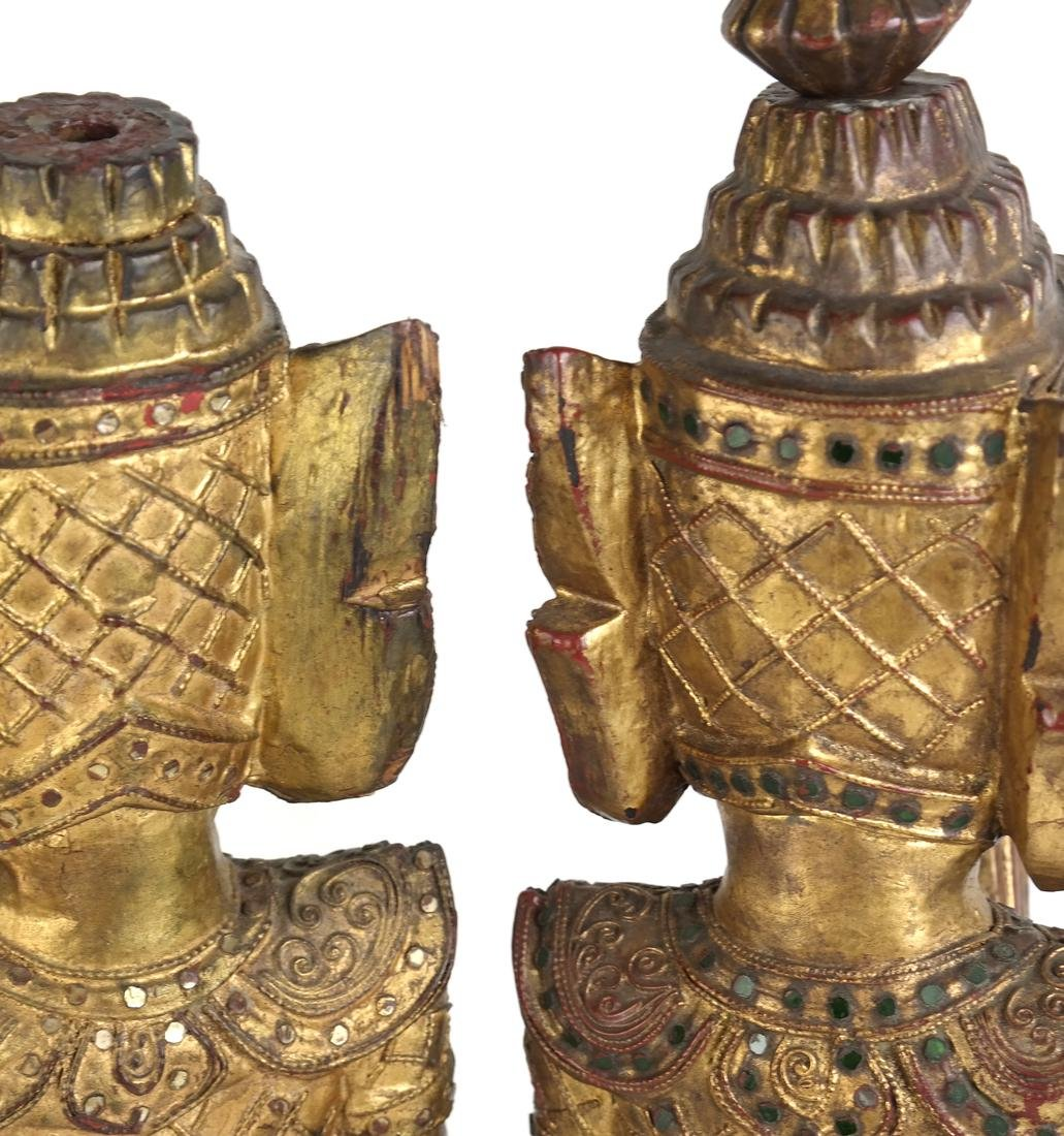 Pair of Southeast Asian Carved Deities - 8