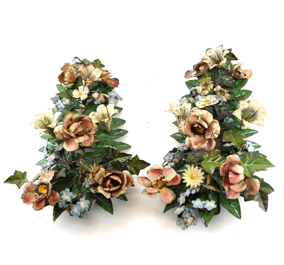 Pair of Metal Wall Appliques
