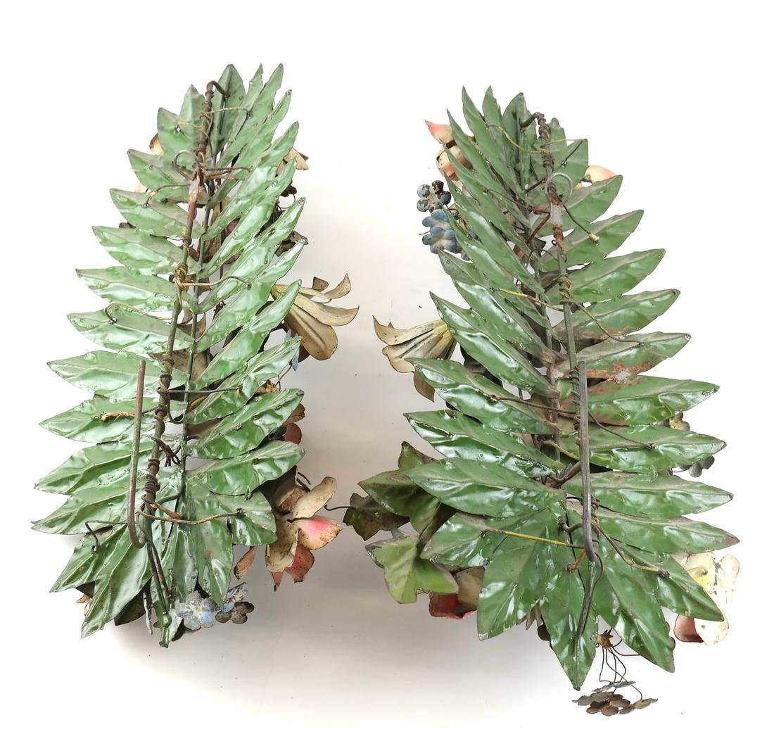 Pair of Metal Wall Appliques - 6