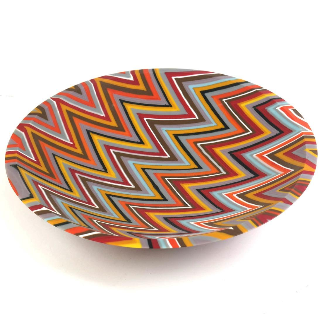 Martin Kremer Glass Zig-Zag Art Glass Bowl