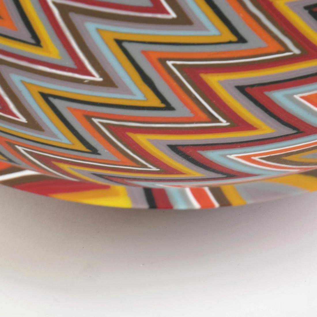 Martin Kremer Glass Zig-Zag Art Glass Bowl - 4