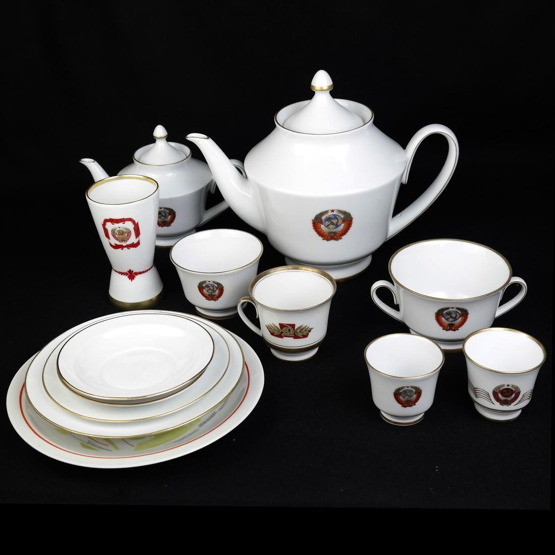 Group of Russian Porcelain