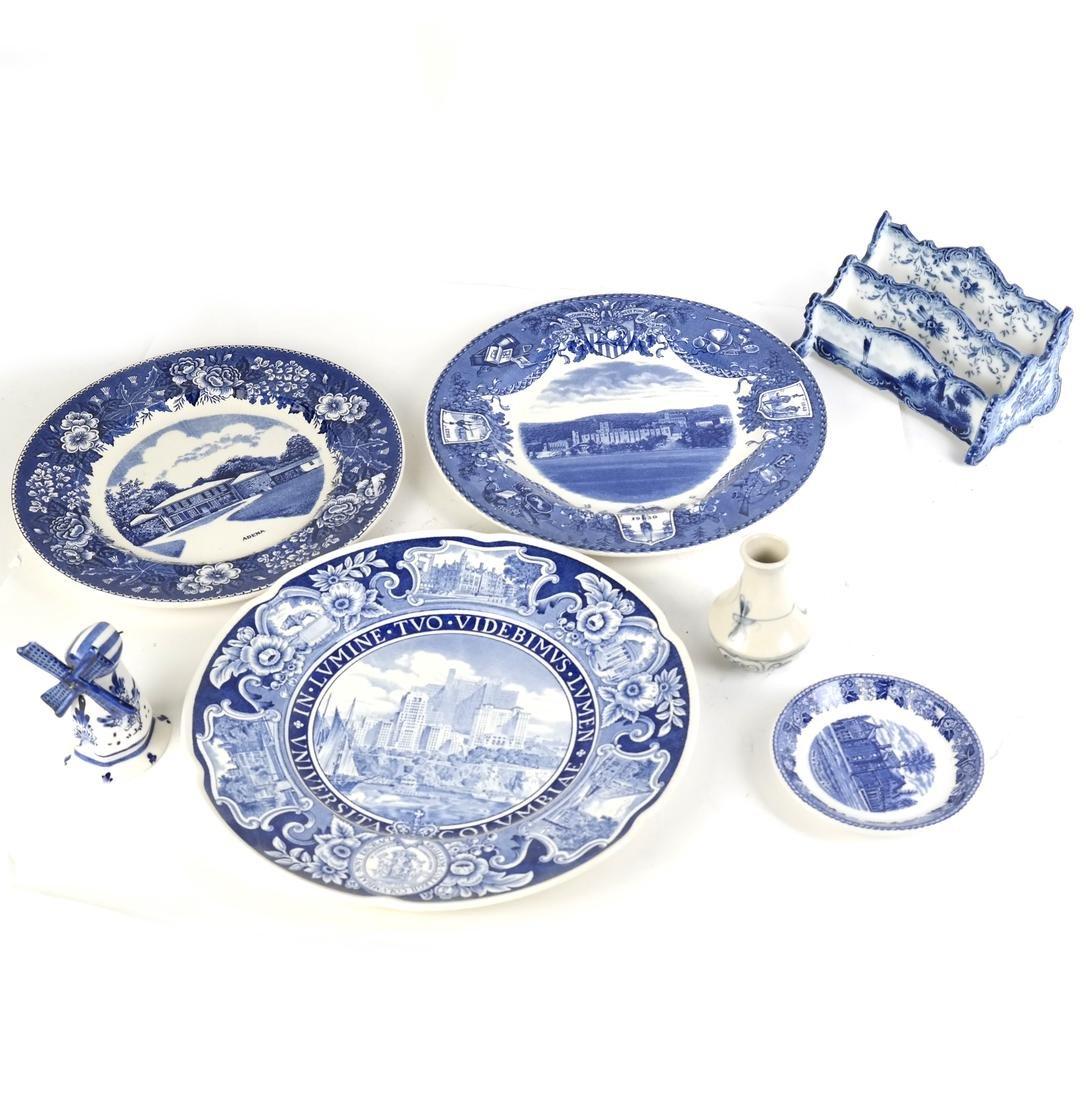Seven Pieces of Blue & White Porcelain