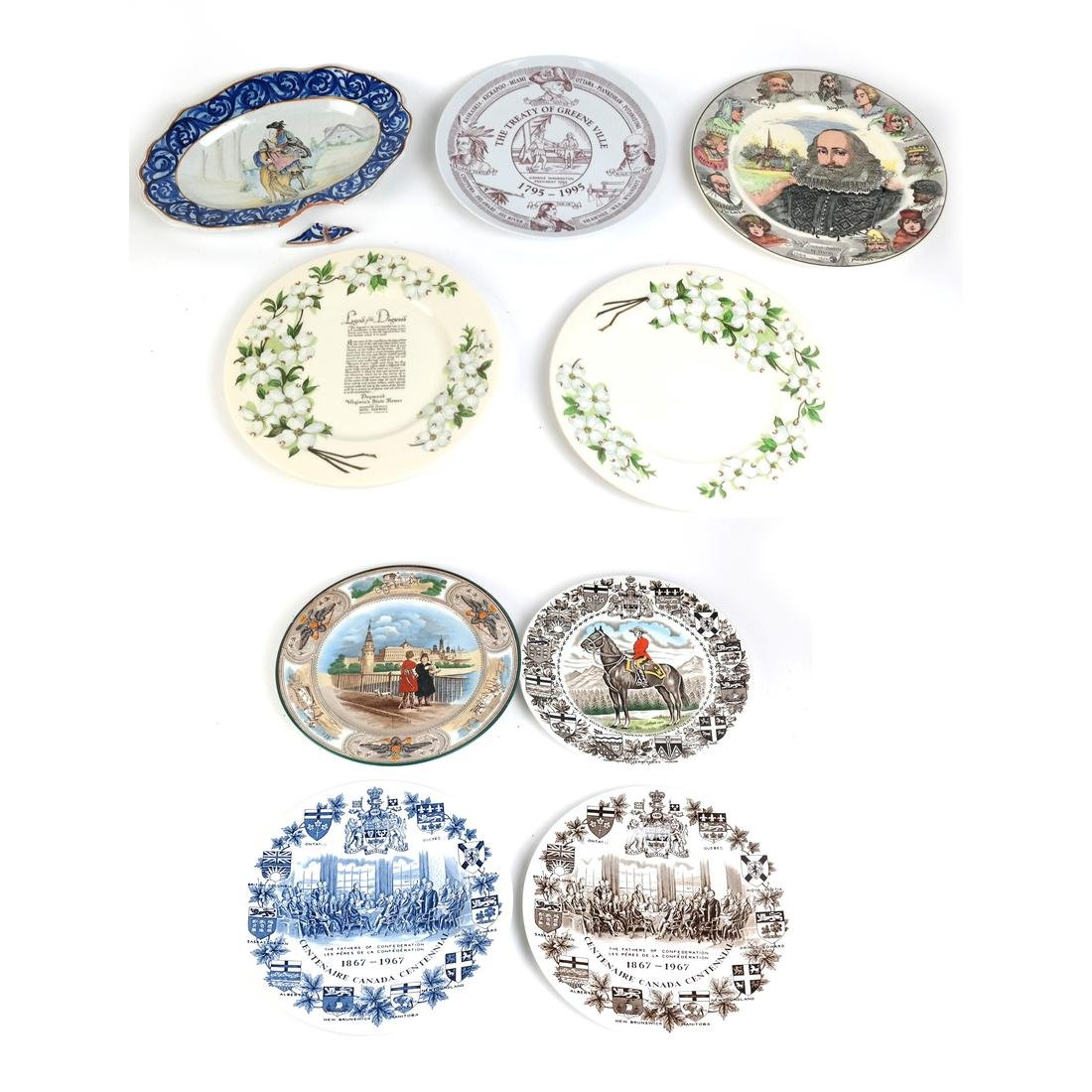Group of Nine Porcelain Plates
