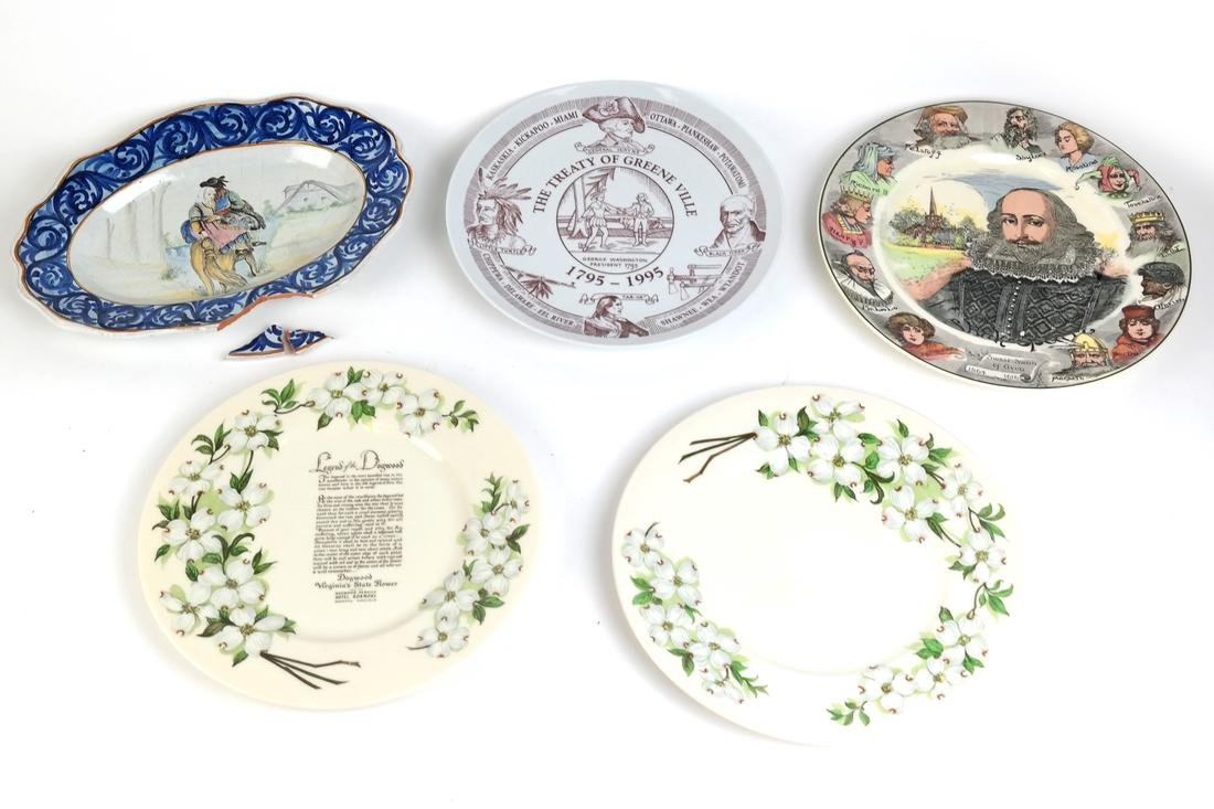 Group of Nine Porcelain Plates - 2