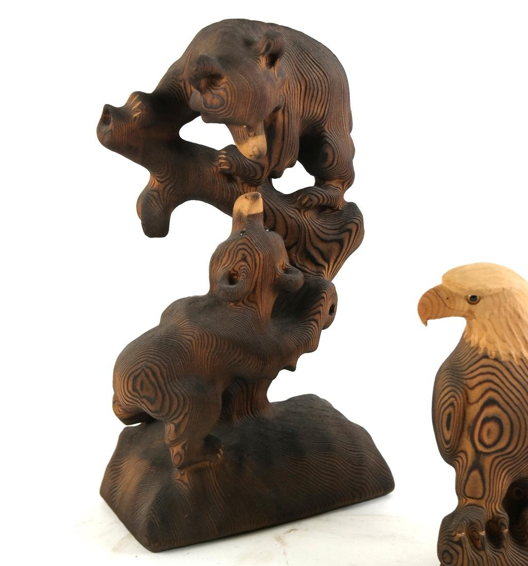 Five Canadian Wood Animals - 2