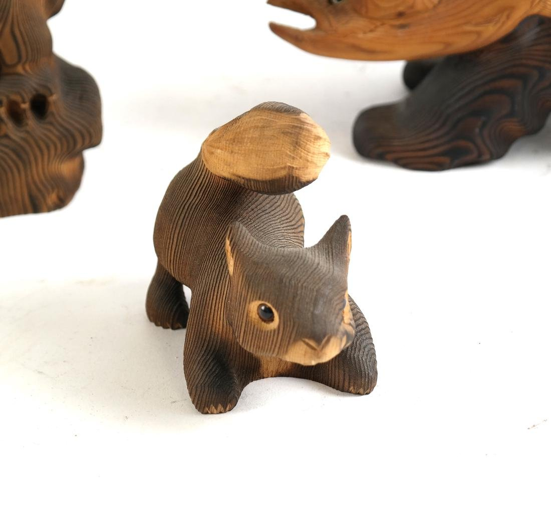 Five Canadian Wood Animals - 3