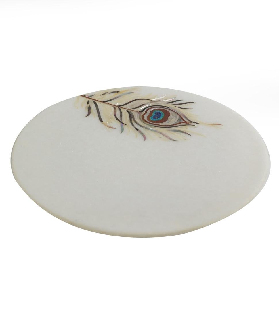 India Marble Inlaid Box and Plate - 2