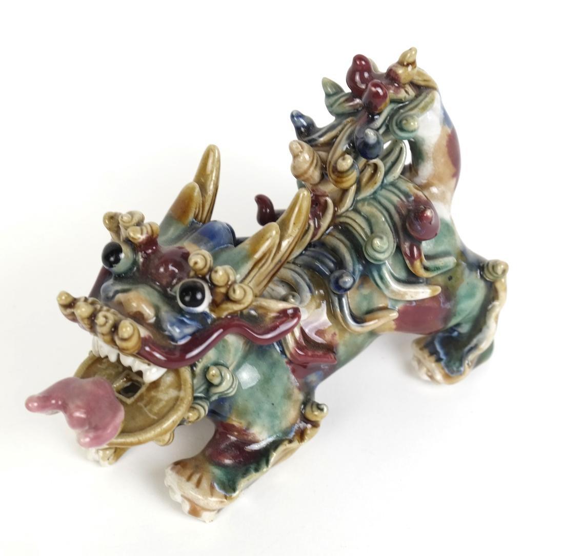 Chinese Glazed Porcelain Dragon