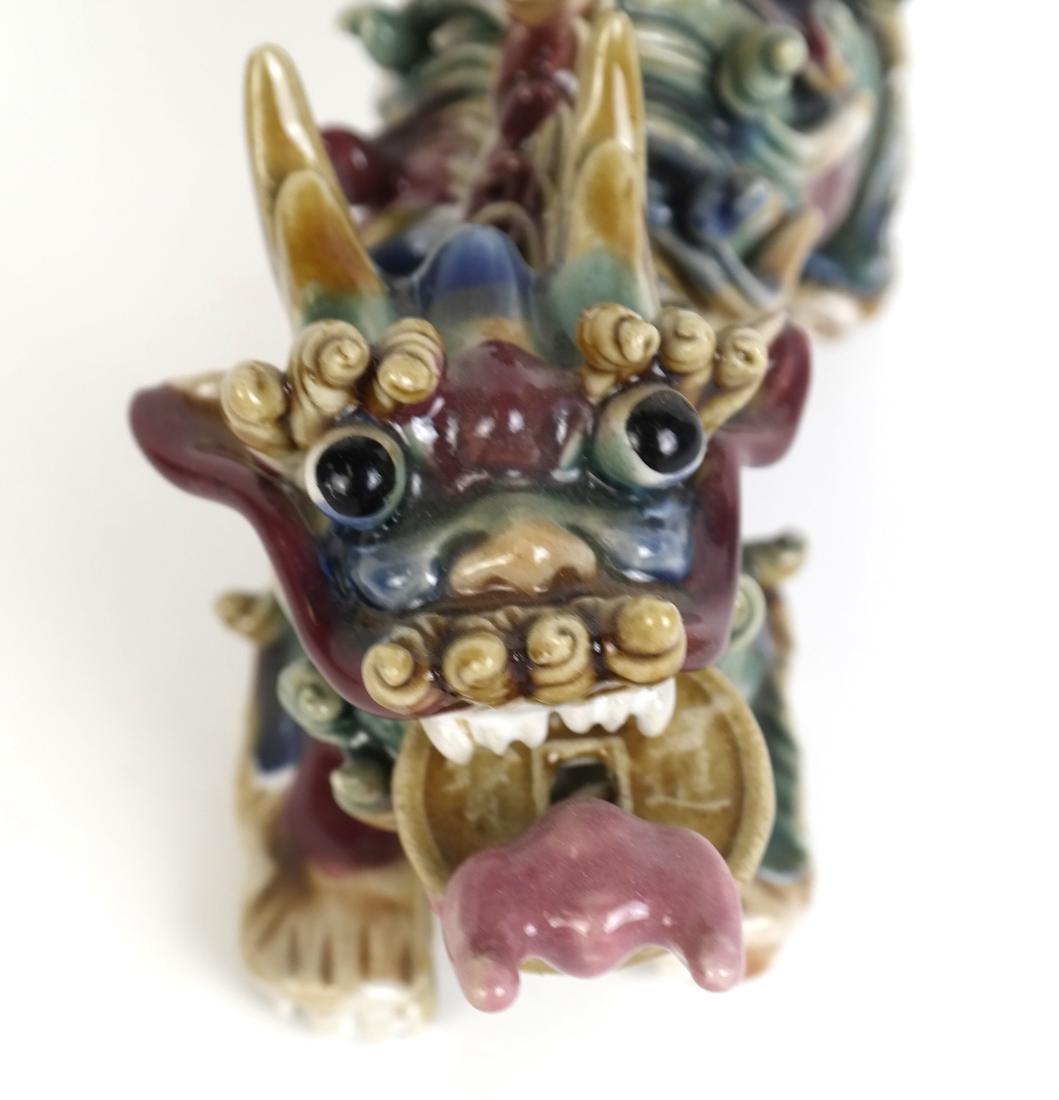 Chinese Glazed Porcelain Dragon - 2