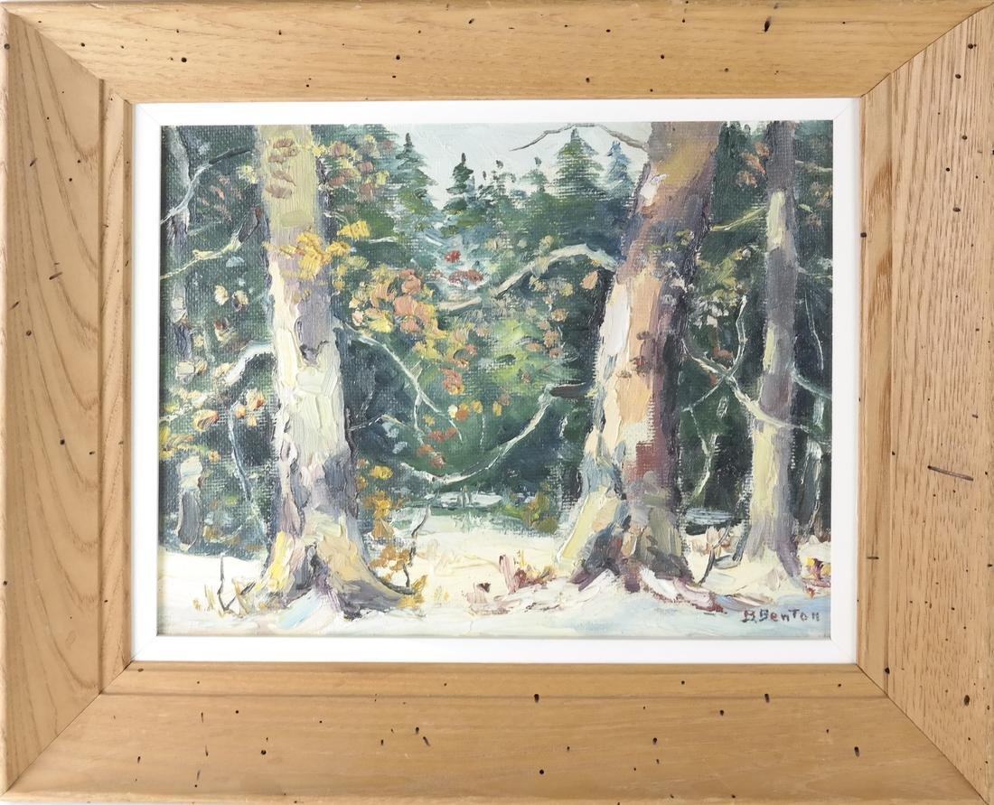 B. Benton, White Birch, Oil on Board - 2
