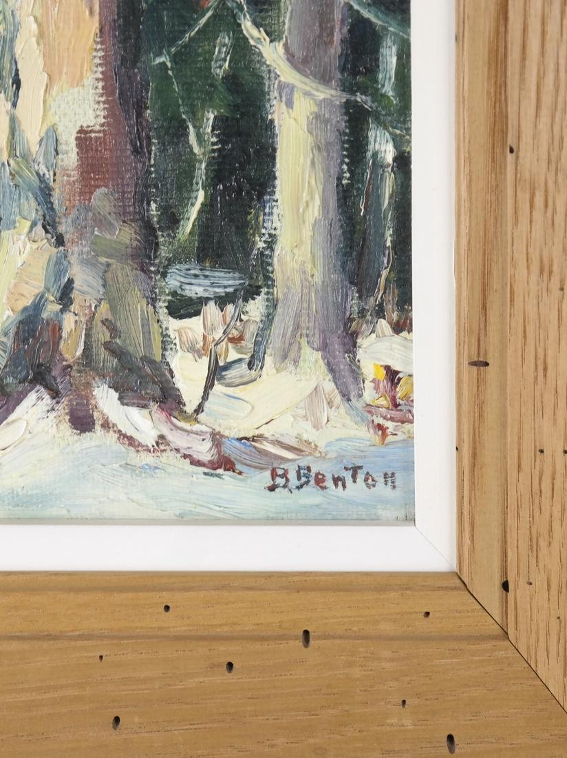 B. Benton, White Birch, Oil on Board - 3