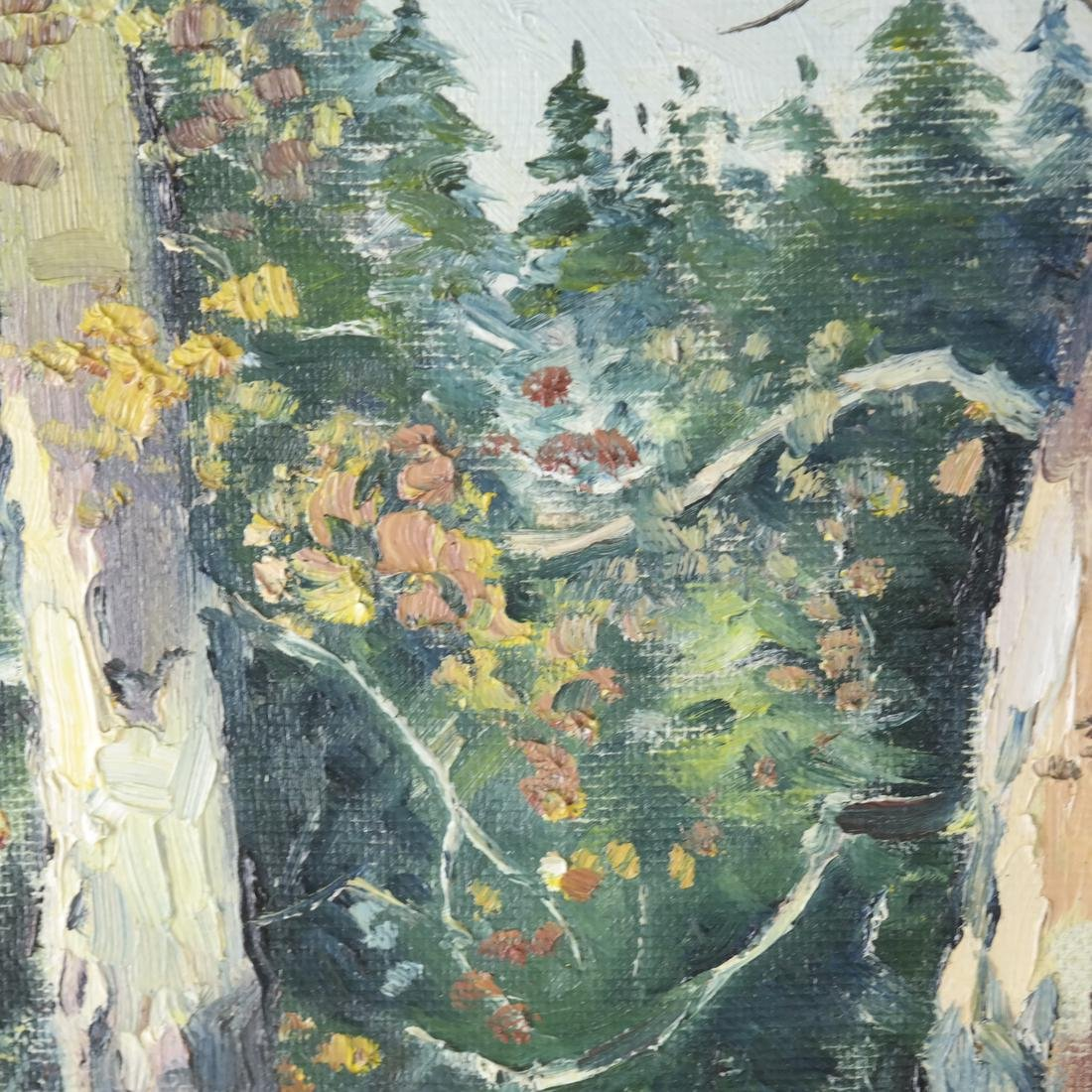 B. Benton, White Birch, Oil on Board - 4