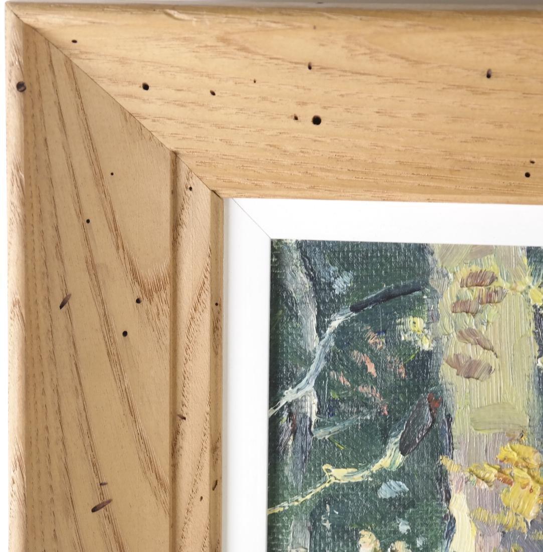 B. Benton, White Birch, Oil on Board - 5
