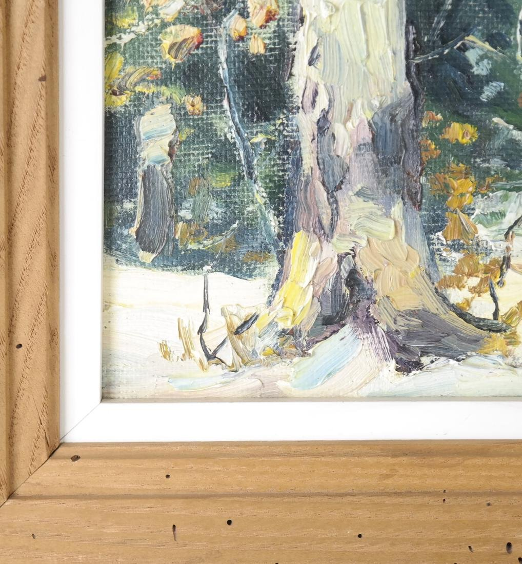 B. Benton, White Birch, Oil on Board - 6