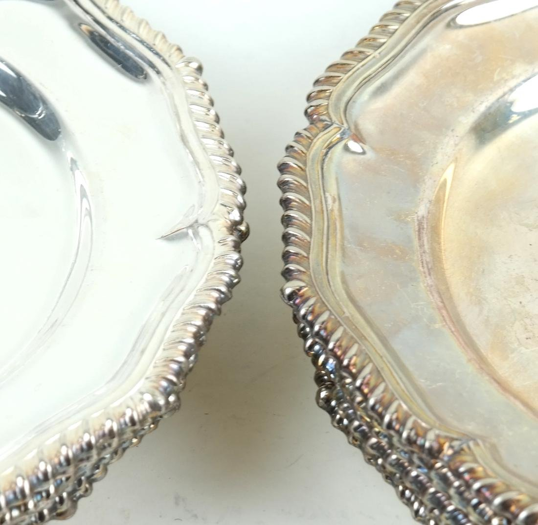 Twelve English Silver-plated Plates - 2