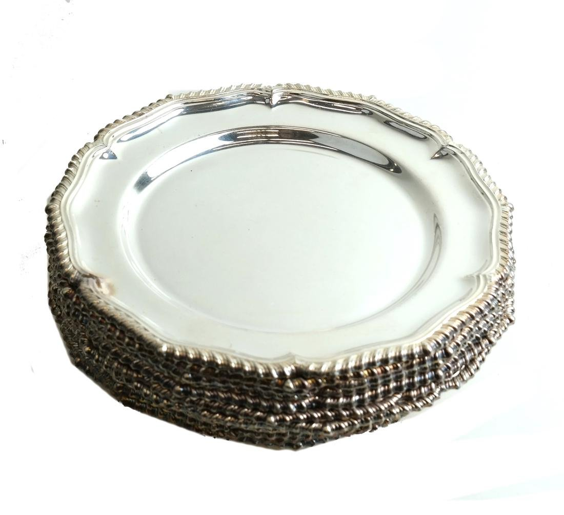 Twelve English Silver-plated Plates - 6