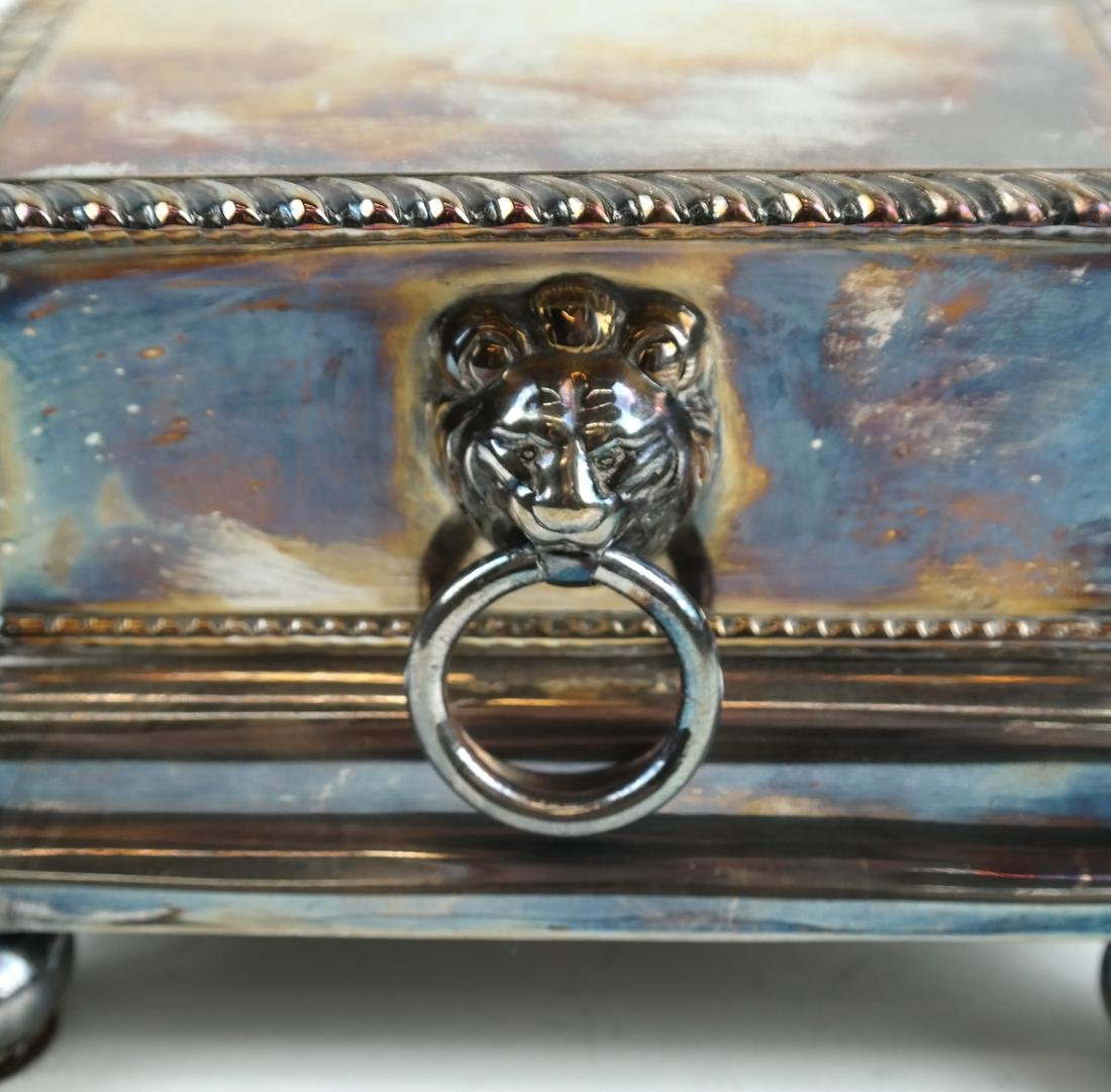 English Silver-plated Standish - 4