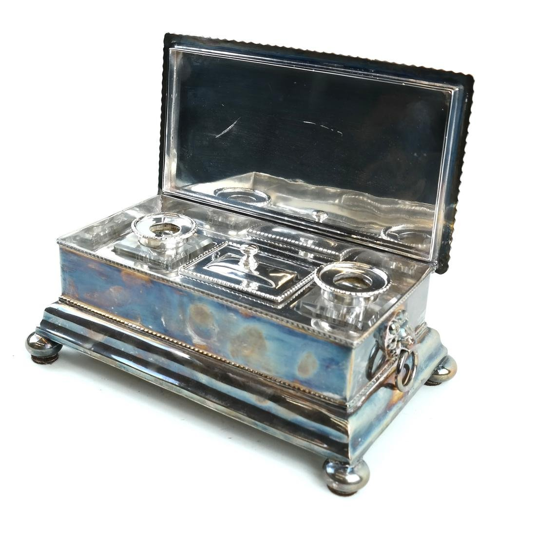English Silver-plated Standish - 5